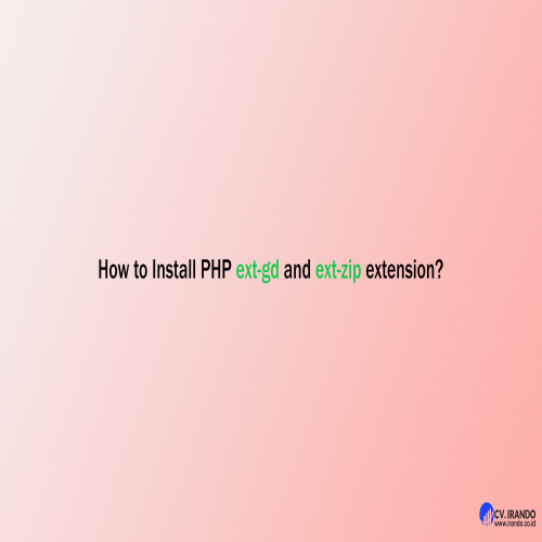 How to Install PHP ext-gd and ext-zip extension