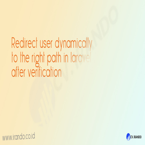Redirect user dynamically to the right path in laravel