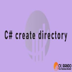C# create directory